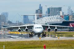 Cityjet - British Aerospace Avro RJ85 - EI-RJW  London City Airport (paulstevenchalmers) Tags: london londoncity airport lcy