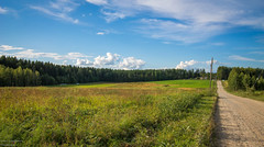 (LarryL Photograph) Tags: nature barn canon 1100d 1018 lightroom summer finland tree clouds sun