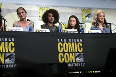 Melissa Benoist, Nathalie Emmanuel, Tatiana Maslany & Lucy Lawless (Gage Skidmore) Tags: connie nielsen ming na wen morena baccarin melissa benoist nathalie emmanuel tatiana maslany lucy lawless san diego comic con international california convention center ew entertainment weekly women who kick ass