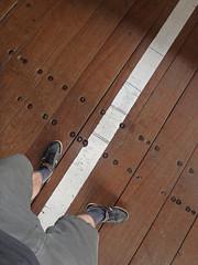 boundary line (fatboyke (Luc)) Tags: holzbrcke badsckingen road bridge rhine rhein rijn stein switzerland rheinbrckestein sckingerbrcke germany waldshut badenwrttemberg trumpeteerscity southwest blackforest border grens grenze frontire