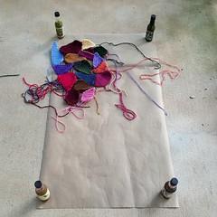 2016-08-09_07-43-10 (crochetbug13) Tags: crochet crocheted crocheting hotsauce crazyquilt quilt crazy diy yarn scrap piece pieces northcarolina statefair multicolor rainbow template