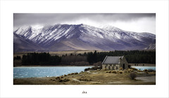 Storms Don't Last Forever ... This Too ... Shall Pass ... (Maxwell Campbell) Tags: nz newzealand lake tekapo church storm snow mountains landscape panorama