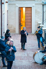 La Befana at Montalto delle Marche - January 2016 (MikePScott) Tags: ascolipiceno band buildings builtenvironment camera events featureslandmarks festival fiesta group italia italy labefana lemarche lens montaltodellemarche musician nikon105mmf28vrmicro nikond800 people performingarts theatre marche
