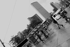 NEW CITY HALL (circa 1965) (posterboy2007) Tags: newcityhall toronto queenstreet street storm bw drivebyshooting