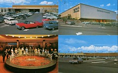 Brentwood Shopping Centre, Burnaby, BC (SwellMap) Tags: postcard vintage retro pc chrome 50s 60s sixties fifties roadside midcentury populuxe atomicage nostalgia americana advertising coldwar suburbia consumer babyboomer kitsch spaceage design style googie architecture shop shopping mall plaza