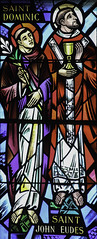 St John Eudes with St Dominic (Lawrence OP) Tags: dominic saints johneudes stainedglass baltimore cathedral windows