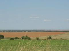 Farm land (ptcruiser4dogs) Tags: windfarm turbine windturbine energy farmcountry farmland oklahoma deercreek cashion country bfe dirtroads