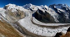 Monte Rosa with Grenzgletscher (Photo_Flow) Tags: switzerland schweiz gornergrat glacier gletscher summer sommer schnee snow monterosa liskamm castor pollux grenzgletscher 2016 alps alpen panorama