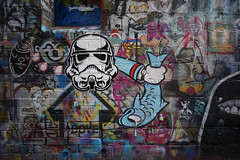 (th3butcherofbilbao) Tags: melbourne street art caper drewfunk above haha