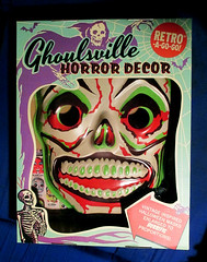 Green Grinning Skull Mask And Box 6315 (Brechtbug) Tags: green grinning skull mask halloween semi vintage with regular sized uncle sam box ben cooper collegeville halco ghoulsville retro newspaper sunday funnies comics holiday costume comic strip book comicbook spy movie film cinema americana america freedom justice super hero spooky jumbo size