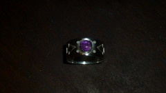Sterling Silver Ring with Amethyst (Scott Sterbenz) Tags: jewelry ring silverring amethyst handengraved handmadejewelry madeinsanfrancisco copyright2016scottsterbenz folk gothic medieval originaldesign customfabrication