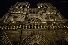 Standing Strong (Bernai Velarde-Light Seeker) Tags: notredame church basilica iglesia towers torres bell bernai velarde france francia europe europa night noche