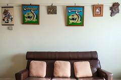 Kingsville (Westographer) Tags: kingsville melbourne australia westernsuburbs suburbia livingspace loungeroom couch cushions bulldogs charliesutton clock oldschool