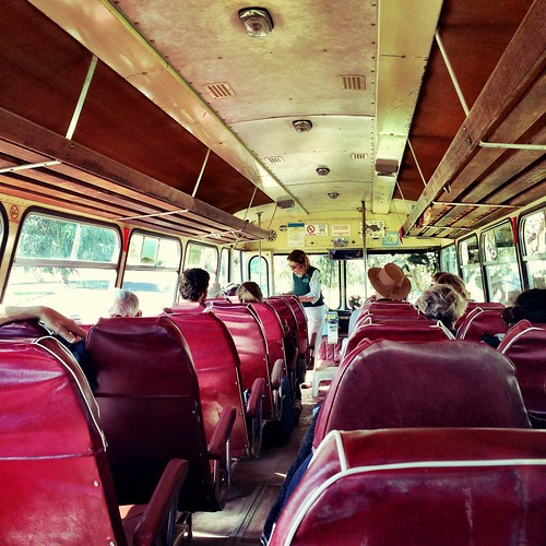 The French Is. tour bus - interior