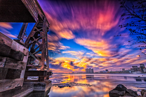 """Pier and Swirling Ice • <a style=""""font-size:0.8em;"""" href=""""http://www.flickr.com/photos/76866446@N07/16369640504/"""" target=""""_blank"""">View on Flickr</a>"""