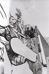 Sofles - 35mm b&w Film Canon Ae-1 (Chasing Ghosts LDN / MELB) Tags: street streetart art project photography graffiti am melbourne tags ghosts paterson graff chasing melb melburn melbgraff chasingghosts chasinghosts iamchasingghosts wearechasinghosts thepatersonproject