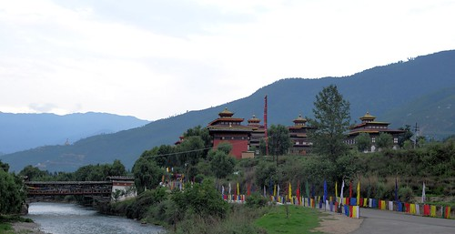 View of Tashichodzong from Hejo