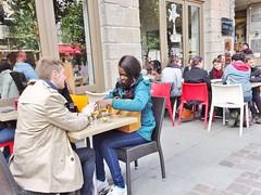 2015-03-21  Saint-Malo - Intra Muros - Crêperie Froment&Sarrasin - 2 Place du Marché aux Légumes (P.K. - Paris) Tags: street people mars café march brittany terrace candid terrasse bretagne sidewalk 2015