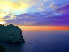 maiorca colors (poludziber1) Tags: sunset sea summer sky clouds spain colorful mare mallorca landscap