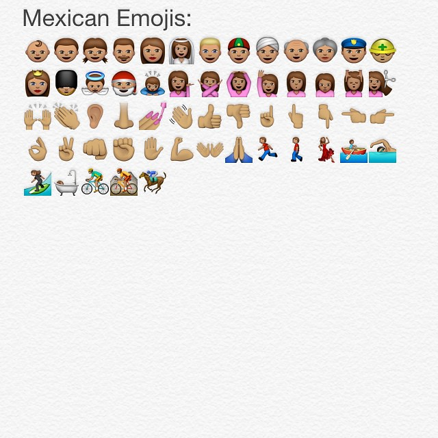 All the Mexican emojis in IOS 8.3 #newemojis