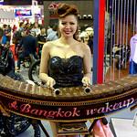 Sexy model playing a ระนาดเอก (Ranat ek) at the 36th Bangkok International Motor Show thumbnail