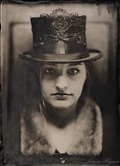 Top Hat 2 (Jürgen Hegner) Tags: portrait analog open ambrotype wetplate wideopen blackglass collodion schwarzweis fkd 13x18cm episkop kollodium ambrotypie jürgenhegner fkd13x18camera leitzepis32