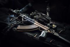 Samopal - vzor 58 (Tomas.Kral) Tags: light black contrast canon studio gun czech prague product bullets softbox strobe tactical submachinegun speedlite assaultrifle 2870mm zbrojovka samopal strobist smallflash yongnuo savz58 yn560ii