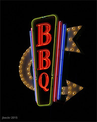 JRpad3.28.15 (jrbeckwith) Tags: light sign night project dark restaurant photo oak neon day texas tx picture bbq jr wife arrow 365 date shady fortworth beckwith