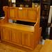 Pine framed monks bench