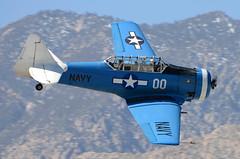 N6411D (John W Olafson) Tags: harvard trainer warbird texan flyby northamerican snj4 n6411d