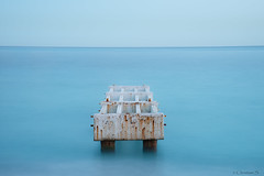 Calm (crispin52) Tags: longexposure blue france nice oldjetty