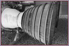 Stage 1 Engine (Sugardxn) Tags: arizona blackandwhite bw usa southwest photoshop canon tucson military engine nuclear az frame rocket missile motor sahuarita titan usaf coldwar titanii picswithframes canoneos7d canon7d sugardxn garypentin