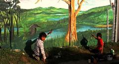Bosques sin alambradas... (Felipe Smides) Tags: naturaleza libertad agua mural bosque animales resistencia ríos niebla memoria valdivia huellas mapuche bosques libres territorio desalambrar smides felipesmides