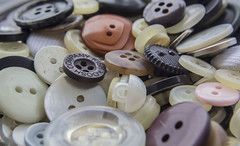 Buttons (yafit770) Tags: opposites macro buttons canon black white curved straight transparen opaque small big pink orange sewing macromondays challengeyouwinner