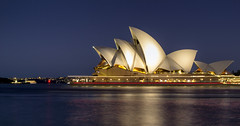 The Opera House (Mark Willemse) Tags: australia sydney opera house night scape city lights blue hour water movement