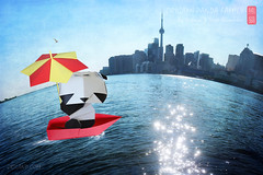 Origami Panda Fun on Toronto Waterworld Planet (Katrin Ray) Tags: pandamonday origamipandafunontorontowaterworldplanet summerinorigamipandaland origamipandamondayfun pandorable pandaful pandastic pandalicious origamibabypanda origamipandafamily publication book oriland origami   paperdesign origamibyyuriandkatrinshumakov paper design origamipanda babypanda umbrella beach plage lake sand sky blue textured orilandcom paperart noglue yuriandkatrinshumakov katrinray toronto ontario canada summerdaysontorontoplanet summer water lakeontario light cntower toyronto littleplanet notrepetiteplante photoshop planetization digimagic painting digiart toyrontolife toyland textures texturesbyme dreamscapesoftoronto torontopostcard canonphotography eos canon rebel t6i 750d