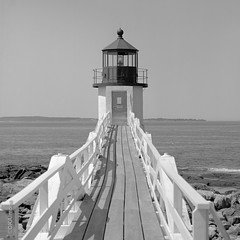 Light House, Port Clyde, Maine (DKAIOG) Tags: 6x6 film monochrome mediumformat blackwhite hasselblad500cm fujiacros100 pyrocatmc