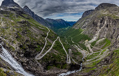 The Trolls road (nureco) Tags: trollstigen tree trees nature naturescape landscape clouds valley waterfall norge norway visitnorway troll highest high panoramic panorama outdoors scenic hiking outdoor beautiful national park green
