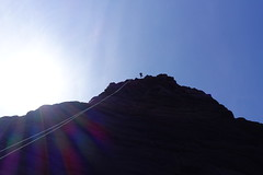 Abseiling off The Old Man of Stoer (andy.brown) Tags: scotland rockclimbing stoer