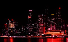 SINGAPORE VIEW (patrick555666751) Tags: singapore view nuit noche notte night light lumiere reflet reflection singapura asie asia du sud est south east spiegelungen flickr heart group red rouge rosso rojo rot rood