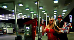 Convenience Store Life (Studio d'Xavier) Tags: night nocturnal gasstation luchador luchalibre 365 conveniencestore thebountyhunter lowlightgallery werehere 193366 conveniencestorelife july112016