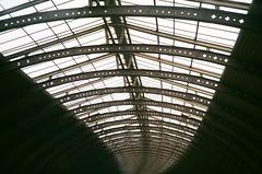 Leeds (iampaulrus) Tags: photoexpresshull lomography lomo paulfargher paulfargherphotography 35mm film filmisnotdead colour color lca leeds trainstation ceiling infinity