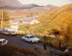 Crianlarich Youth Hostel - late 1980s (Mick Travis) Tags: 1980 1980s late1980s mid1980s crianlarich scotland highlands vauxhall chevette austin maestro fiat 131 mirafiori ambassador