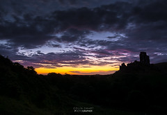 And then there was light. (DigitalAutomotive) Tags: corfe castle sunrise landscape golden sky purbeck sun yellow new day dorset lee filters little stopper glow clouds shadows horizon early start july 2016 photography pirple silhouette skyline dawn