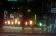The Lights Shop (materasu) Tags: olympus trip 35 film fineart lights composition kodak lowlight