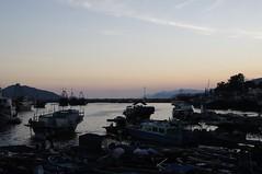 sunset (hazyberlin) Tags: hongkong cheungchau sony a35 rural travel ferry fisherman pier sunset