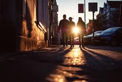low sun (ewitsoe) Tags: gdansk poland europe ewitsoe nikond80 35mm street spring sunset sun people walking light sidewalk city citylife life urban moment memory architecture