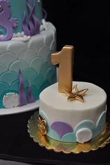 Mermaid smash cake (jennywenny) Tags: mermaid smash cake scales gold under sea