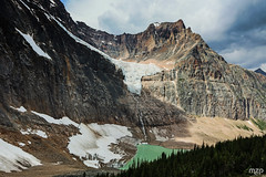 Angel Glacier from Cavell Meadows Trail. (mzagerp) Tags: road trip usa canada rockies rocheuses etats unis mzagerp jasper national park black bear ours brun lake maligne lac valley bald hills caribou mountain goat chvres de montagne angel glacier
