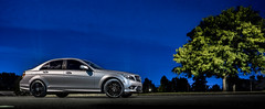 Mercedes-Benz C300 (Louis Viere Photography) Tags: mercedes benz c300 c63 car sportscar sport spyder headlights night time tree landscape land scenery mother child boy kid holding hands look stance wheel rim tires gforce bf goodrich bfgoodrich star bullet custom